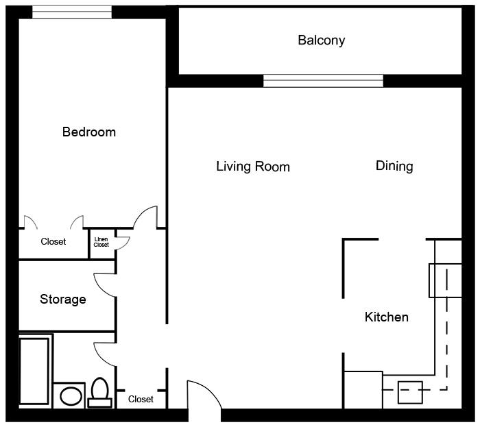 Chateau West - 1 Bedroom Suite A