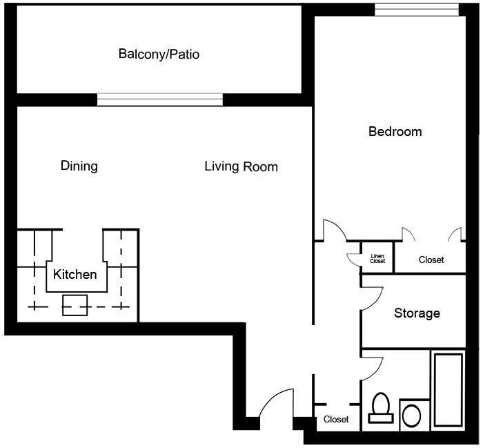 Chateau West - 1 Bedroom Suite B