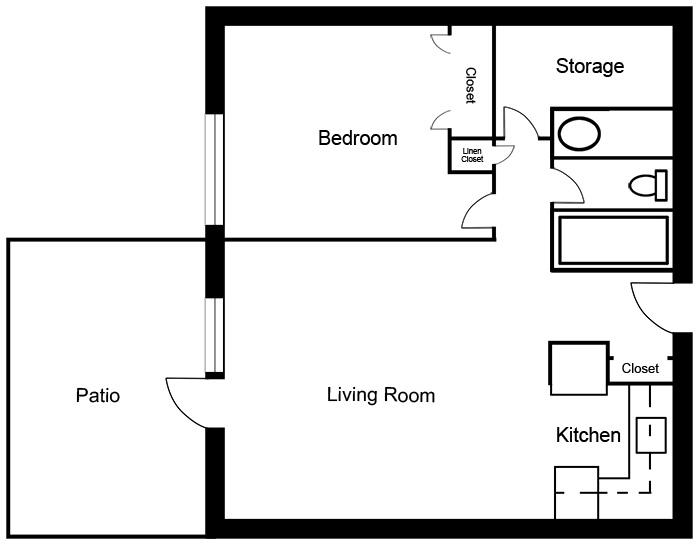 Chateau West - 1 Bedroom Suite C