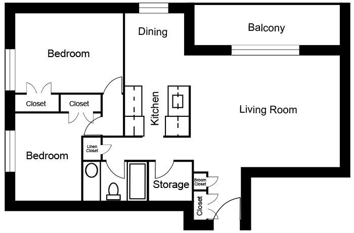 Chateau West - 2 Bedroom Suite A