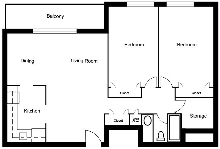Chateau West - 2 Bedroom Suite C
