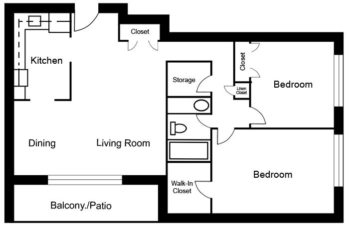 Chateau West - 2 Bedroom Suite D