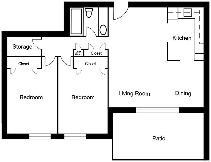 Chateau West - 2 Bedroom Suite E