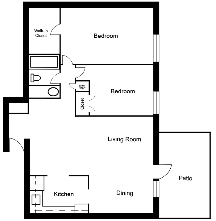 Chateau West - 2 Bedroom Suite F