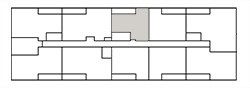 Chateau West Building Map - 1 Bedroom Suite B