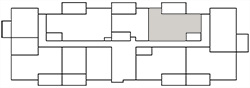 Chateau West Building Map - 1 Bedroom with Den