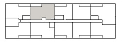 Chateau West Building Map - 2 Bedroom Suite C