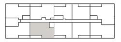 Chateau West Building Map - 2 Bedroom Suite C1