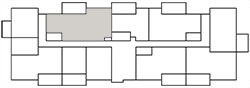 Chateau West Building Map - 2 Bedroom with Den