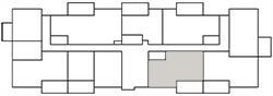 Chateau West Building Map - 2 Bedroom Suite E