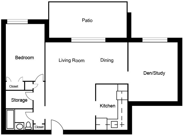 Chateau West - 1 Bedroom with Den