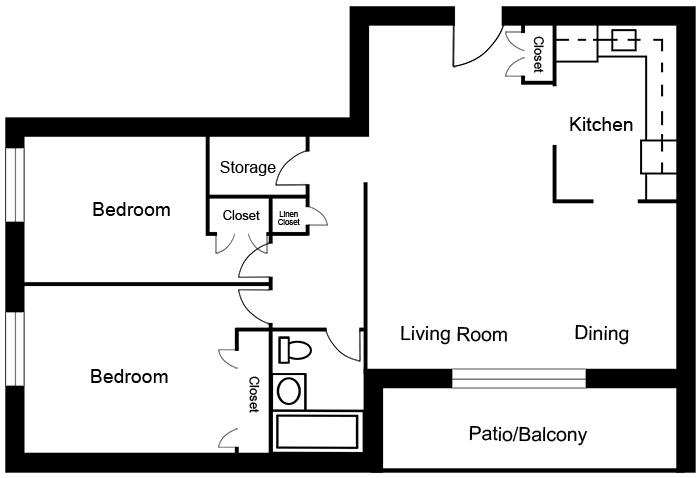 Chateau West - 2 Bedroom Suite B