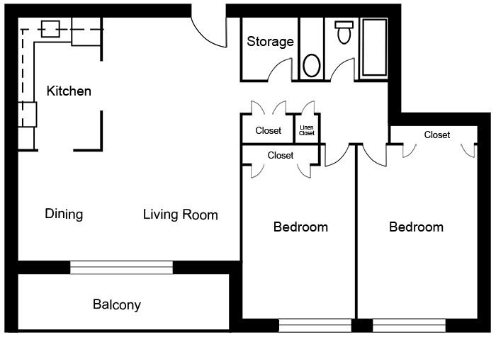 Chateau West - 2 Bedroom Suite C1