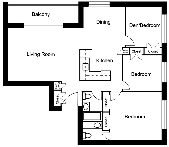 Chateau West - 3 Bedroom Suite