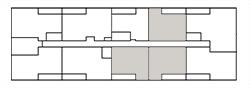 Chateau West Building Map - 1 Bedroom Suite A