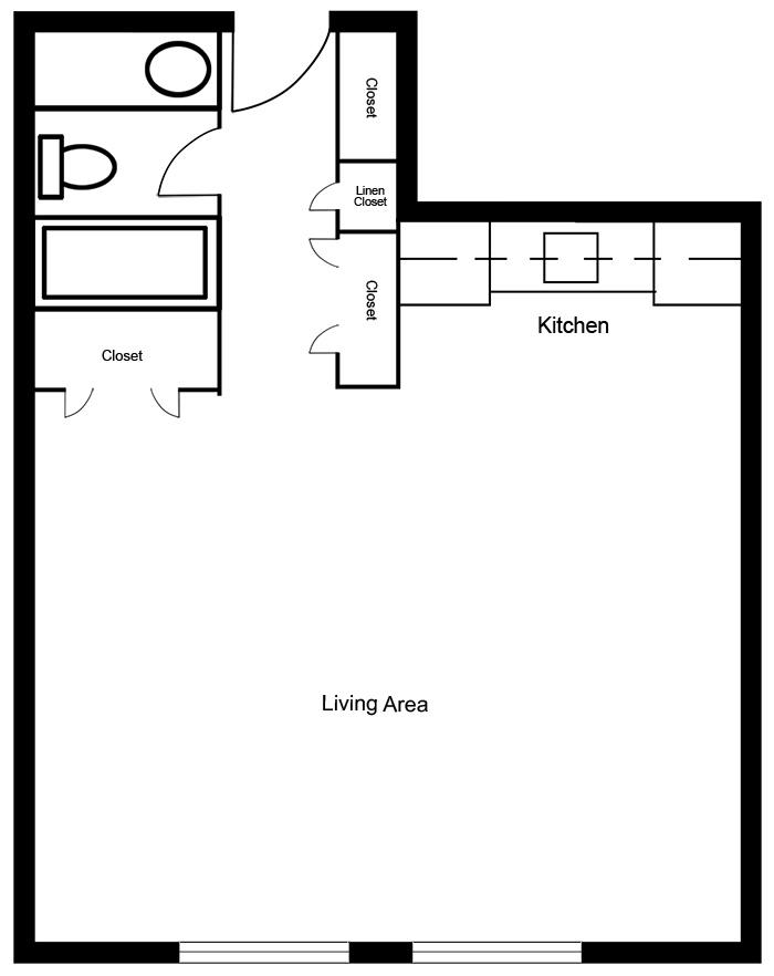 Chateau West - Studio Suite B